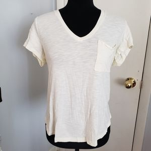 Abercrombie and Fitch cream tee. Size Medium